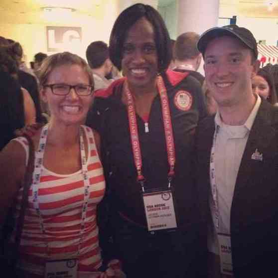 Jackie Joyner Kersee at USA House