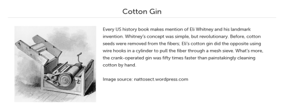 Denim 101: Cotton Gin