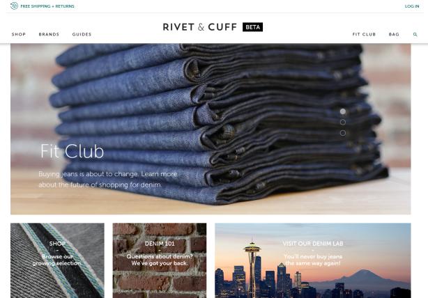 Rivet & Cuff homepage