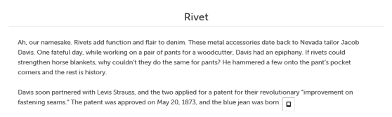 Denim 101: Rivet